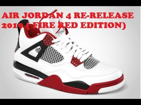 Jordan Air Red Date 4'sFire Edition2019 Release D9HbE2IeYW
