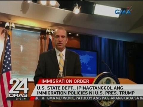 24 Oras: U.S. State Dept., ipinagtanggol ang immigration policies ni U.S. Pres. Trump