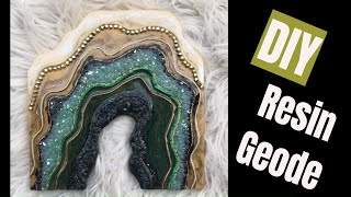 24. DIY Resin Geode using Different Products!
