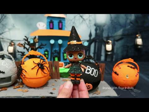 LOL Surprise Babies DIY Halloween Series ! Toys and Dolls Fun with Custom LOL Balls   SWTAD