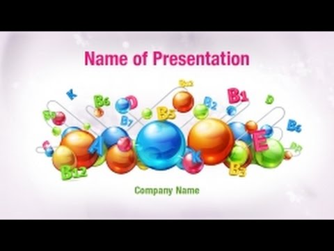 Vitamins PowerPoint Video Template Backgrounds - DigitalOfficePro