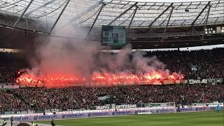 Pyroshow und Choreo Hannover 96 im Derby
