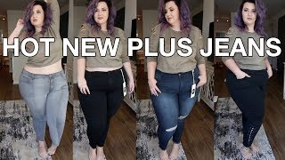 PLUS SIZE FASHION TRY ON HAUL | HOT NEW JEANS BRAND - RWN by Rawan | Sometimes Glam