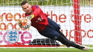 Heaton worldie & Hart hits a hat-trick! (England goalkeeping session) | Inside Training