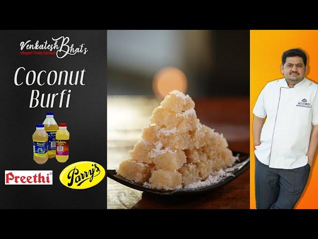 Venkatesh Bhat makes Coconut Burfi | Recipe in Tamil