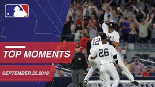 Top 10 Moments around MLB: September 22, 2018
