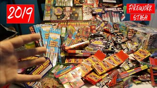 LOTS OF FIREWORKS 2019 HUGE FIREWORK STASH $2500 WORTH OF FIREWORKS!!