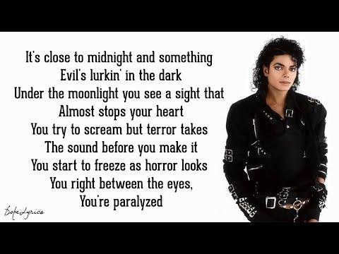 Thriller - Michael Jackson (Lyrics)