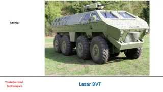 Nexter Aravis compared with Lazar BVT, ambush protected vehicle full specs