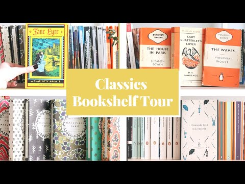 Bookshelf tour & My classics collection 📖 Penguin English Library, Vintage Classics & more