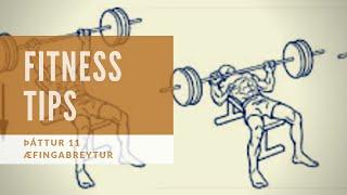 Fitness tips - Þáttur 11 (Æfingabreytur til að auka styrk)