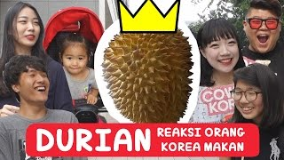 REAKSI Orang Korea Makan DUREN!! | DURIAN REACTION | Video Lucu Banget | COWOK KOREA(Untuk video menarik lainnya!! [SUBSCRIBE] : https://www.youtube.com/channel/UC32p10mR28WeKrhOje_4dBg COWOK KOREA Mau Belah DUREN!, 2016-07-22T13:12:00.000Z)