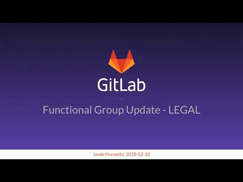 Functional Group Update - Legal - February 22nd