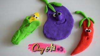 Clay Art #5 🍁Toamna de Aur 🍂Cum sa faci figurine din clay   Air dry clay tutorial for beginners