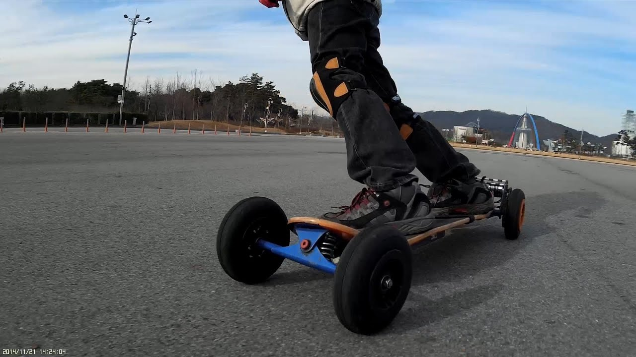 CRAZY RC] Electric Mountain board, turn[go] round and round #2
