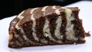 Простой и вкусный пирог Зебра На Манке и Кефире Манник Кекс