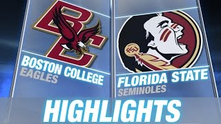 Boston College vs Florida State   2014 ACC Football Highlights