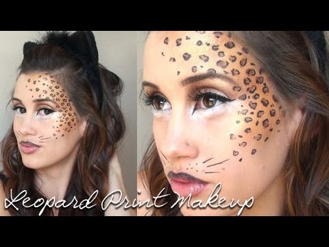 leopard print halloween makeup tutorial youtube