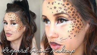 Leopard Print Halloween Makeup Tutorial