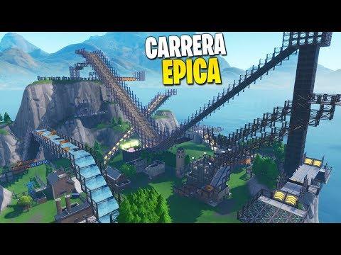 LA CARRERA MAS GRANDE QUE HEMOS HECHO EN FORTNITE!! *12 Jugadores* - Parte#1