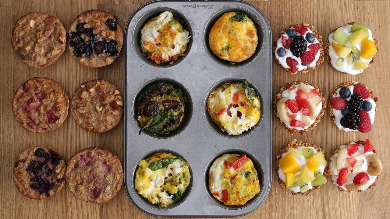 Three Healthy Breakfasts In A Muffin Tin Youtube