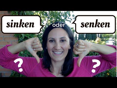 sinken / senken: Was ist der Unterschied?