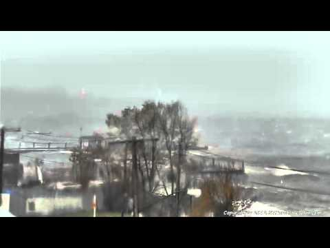 Live Hurricane Sandy footage from the NY Harbor Webcam