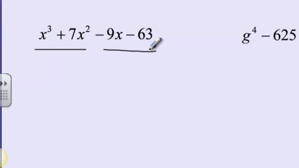 Algebra 2 Factoring Polynomials Youtube