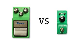 Ibanez Tube Screamer Mini vs 1983 TS9