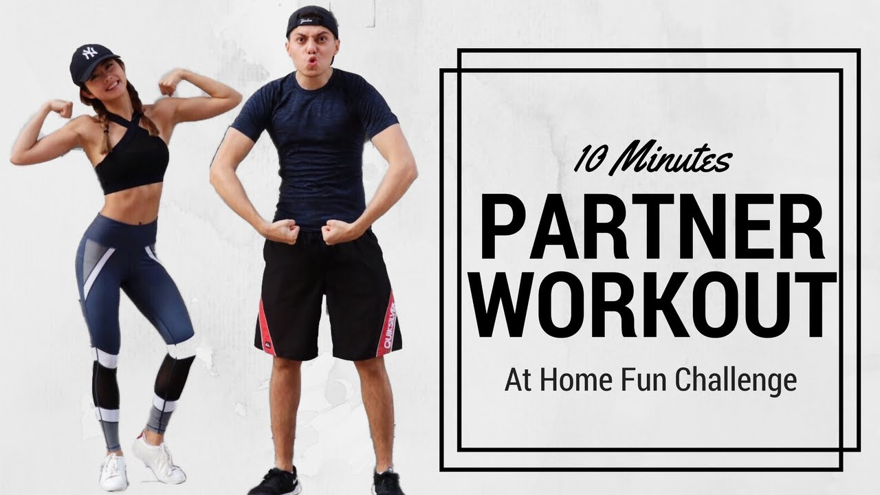 10 Min Partner No Equipment Workout Couple At Home Fun