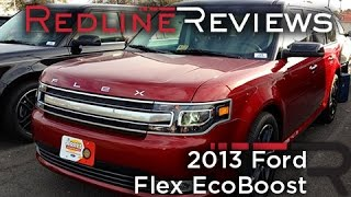 2013 Ford Flex EcoBoost Review, Walkaround, Exhaust, Test Drive