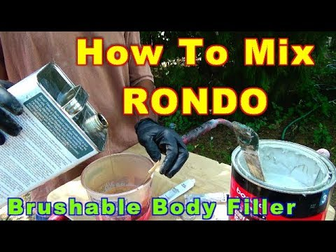 How To Mix Rondo A Brushable Body Filler For Fiberglass & Pepakura  Projects