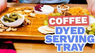 DIY Coffee Stained Tray - HGTV Handmade