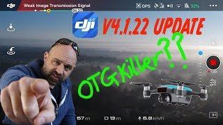 Has DJI GO4 APP Update V4.1.22 killed Spark drone OTG cable?