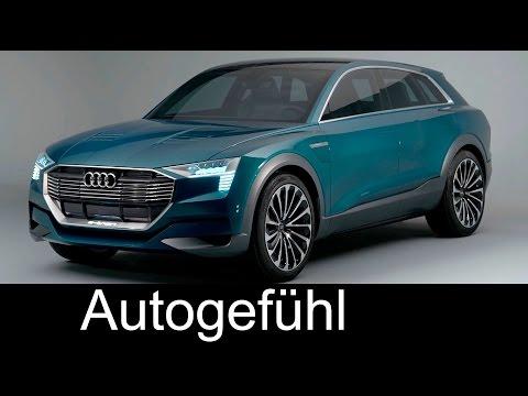 Audi Q6 e-tron quattro concept for IAA motor show technology exterior interior (vs Tesla Model X)
