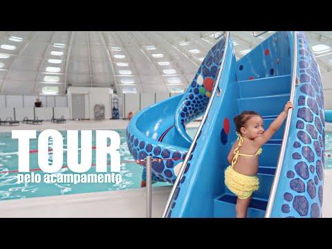 TOUR PELO ACAMPAMENTO: PISCINA, BRINQUEDAO E MUITA DIVERSAO EM FAMILIA | RÊ ANDRADE Daily Vlog