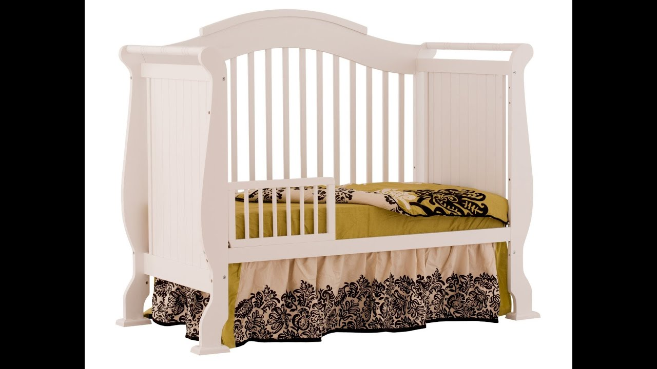 Stork Craft Valentia 4 In 1 Fixed Side Convertible Crib With The