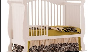 Stork Craft Valentia 4 In 1 Fixed Side Convertible Crib With The Three Mattress For Babies' Growth