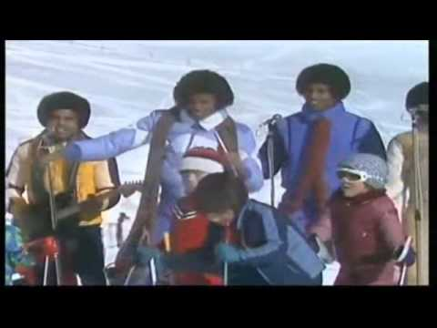 THE JACKSONS    Blame It On The Boogie on snow, in Switzerland 1978