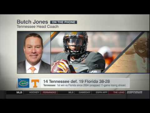 Butch Jones on ESPN after Tennessee