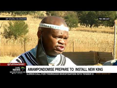 AmaMpondomise nation prepare for the installation of their king Zwelozuko Matiwane