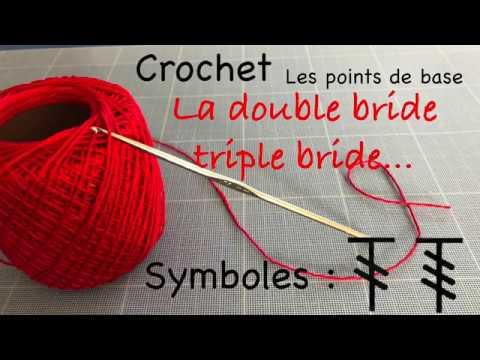 Point De Base Au Crochet 66 La Double Bride La Triple Bride