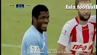 Top 12 insane Red card in football by faiz football