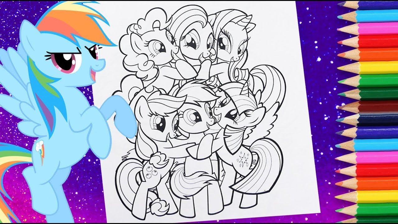 My little pony coloring pages MLP colouring book mane six