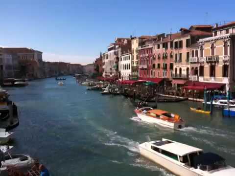 イタリア ベニス リアルト橋 The Rialto Bridge & Gand Canal, Venice Italy