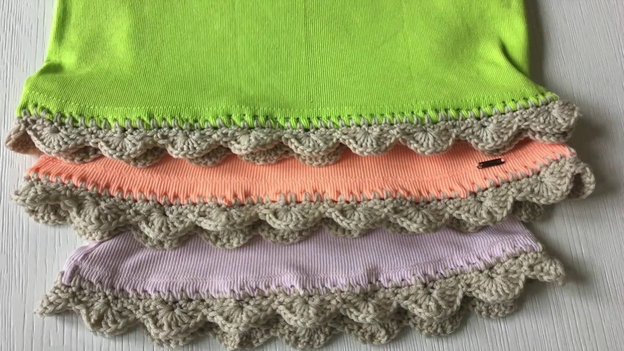 How To Crochet On Fabric With Crochet Edging Youtube