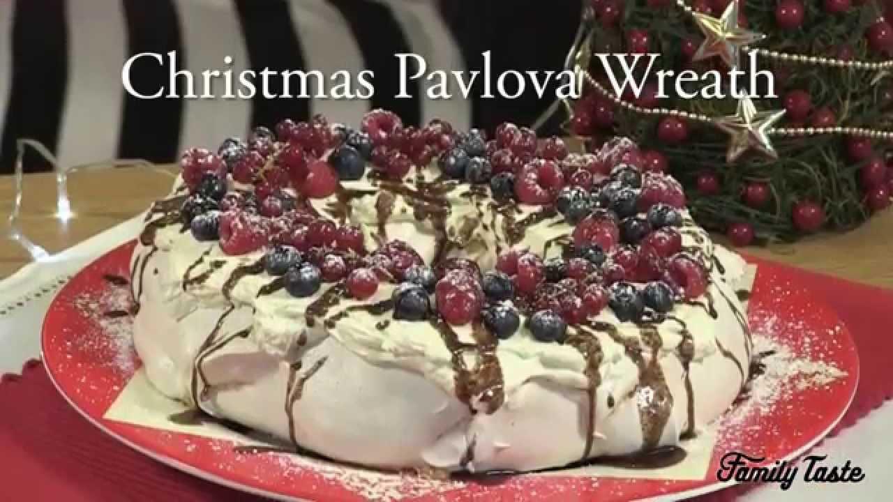 Christmas Pavlova Wreath Youtube