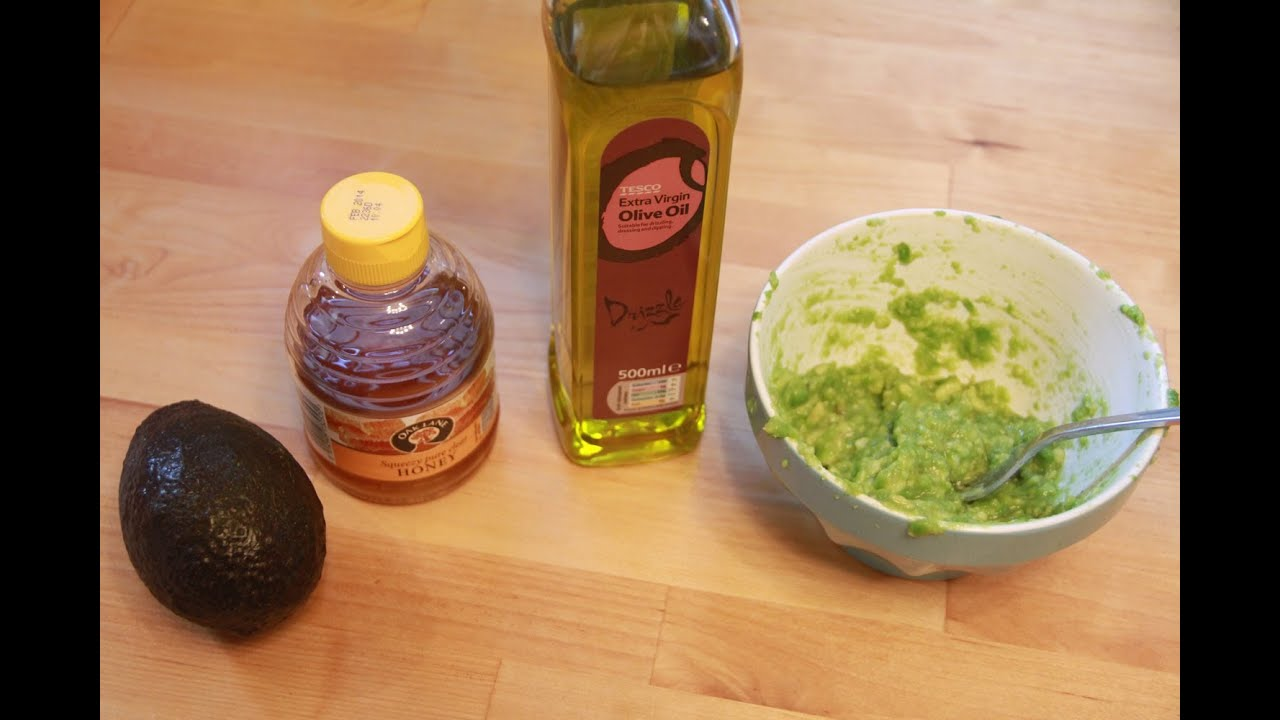 HOW TO DIY Hair Mask With Avocado Honey Amp Olive Oil