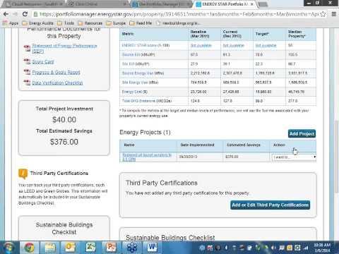 ENERGYSTAR Portfolio Manager tutorial