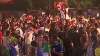 England v Tunisia Fans gather for teams' World Cup 2018 opener live